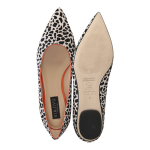 COMO - Calf Hair Dalmation + Velukid Tuscan Sunset, VIAJIYU - Women's Hand Made Sustainable Luxury Shoes. Made in Italy. Made to Order.