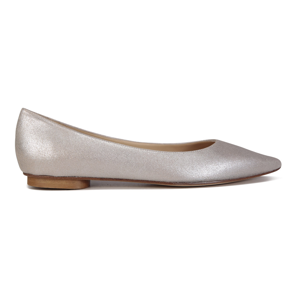 COMO - Burma Platino, VIAJIYU - Women's Hand Made Sustainable Luxury Shoes. Made in Italy. Made to Order.