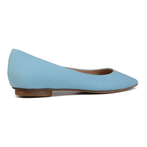COMO - Textile Canvas Turchese, VIAJIYU - Women's Hand Made Sustainable Luxury Shoes. Made in Italy. Made to Order.