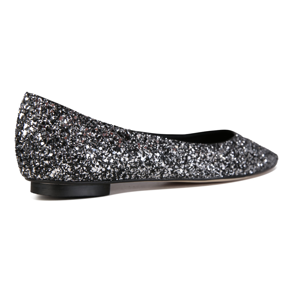 COMO - Textile Glitter Notte, VIAJIYU - Women's Hand Made Sustainable Luxury Shoes. Made in Italy. Made to Order.