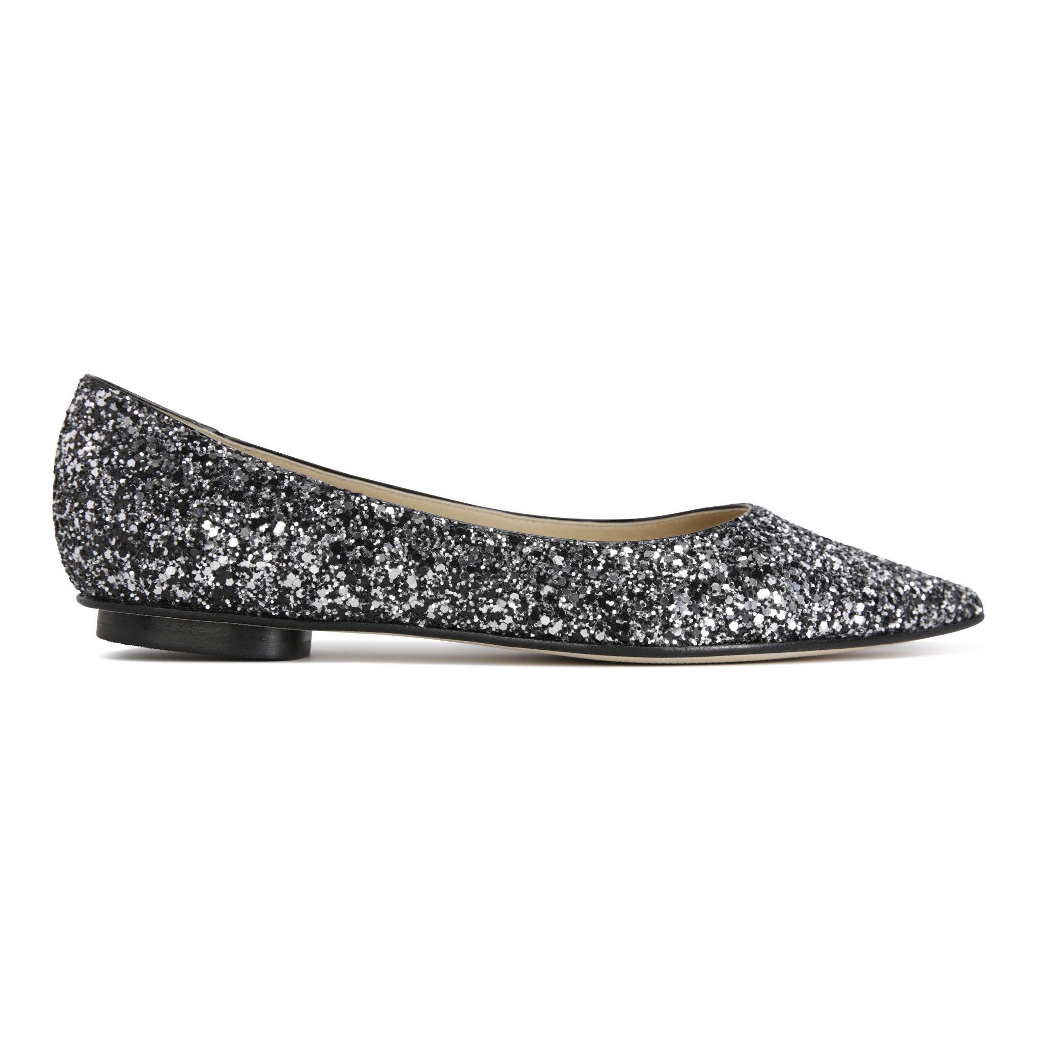 COMO - Glitter Notte, VIAJIYU - Women's Hand Made Sustainable Luxury Shoes. Made in Italy. Made to Order.
