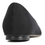 COMO - Grosgrain Nero + Patent Nero Toe Cap, VIAJIYU - Women's Hand Made Sustainable Luxury Shoes. Made in Italy. Made to Order.