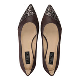 COMO - Hydra Espresso + Asymmetrical Toe Glitter Notte, VIAJIYU - Women's Hand Made Sustainable Luxury Shoes. Made in Italy. Made to Order.