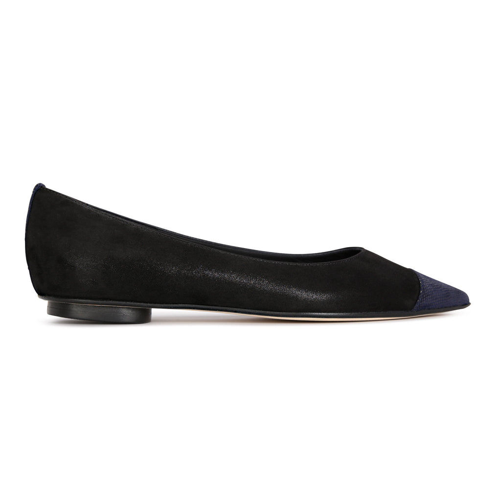 COMO - Hydra Nero + Karung Midnight, VIAJIYU - Women's Hand Made Sustainable Luxury Shoes. Made in Italy. Made to Order.