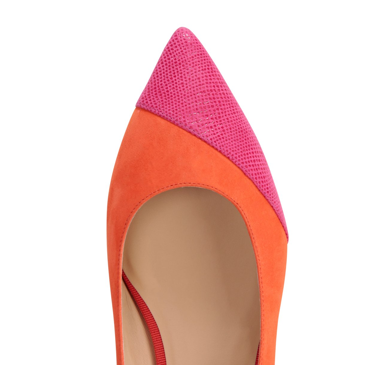 COMO - Hydra Mandarin + Asymmetrical Toe Karung Epiphany Pink, VIAJIYU - Women's Hand Made Sustainable Luxury Shoes. Made in Italy. Made to Order.