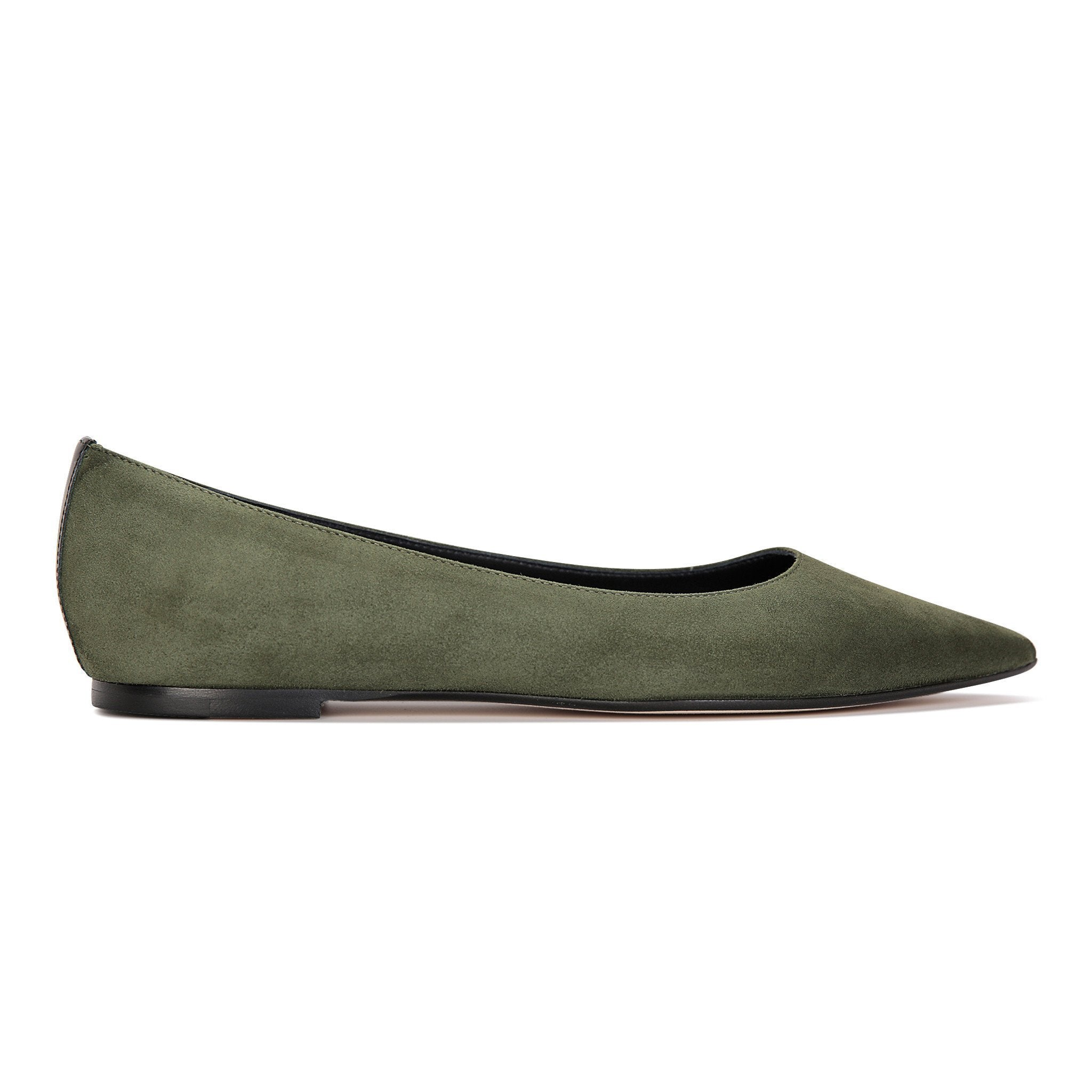 COMO - Velukid Moss + Patent Nero, VIAJIYU - Women's Hand Made Sustainable Luxury Shoes. Made in Italy. Made to Order.