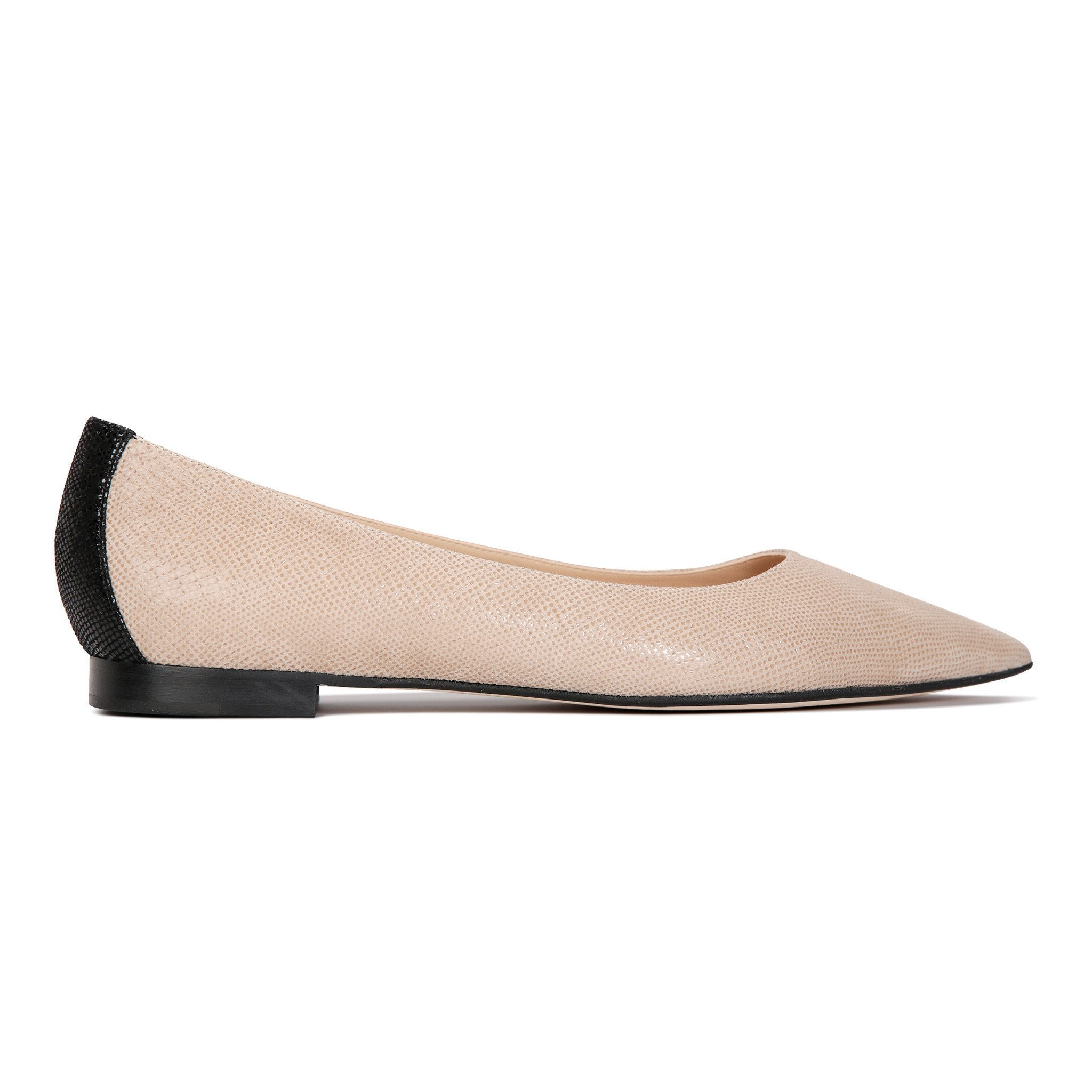 COMO - Karung Tan + Nero, VIAJIYU - Women's Hand Made Sustainable Luxury Shoes. Made in Italy. Made to Order.