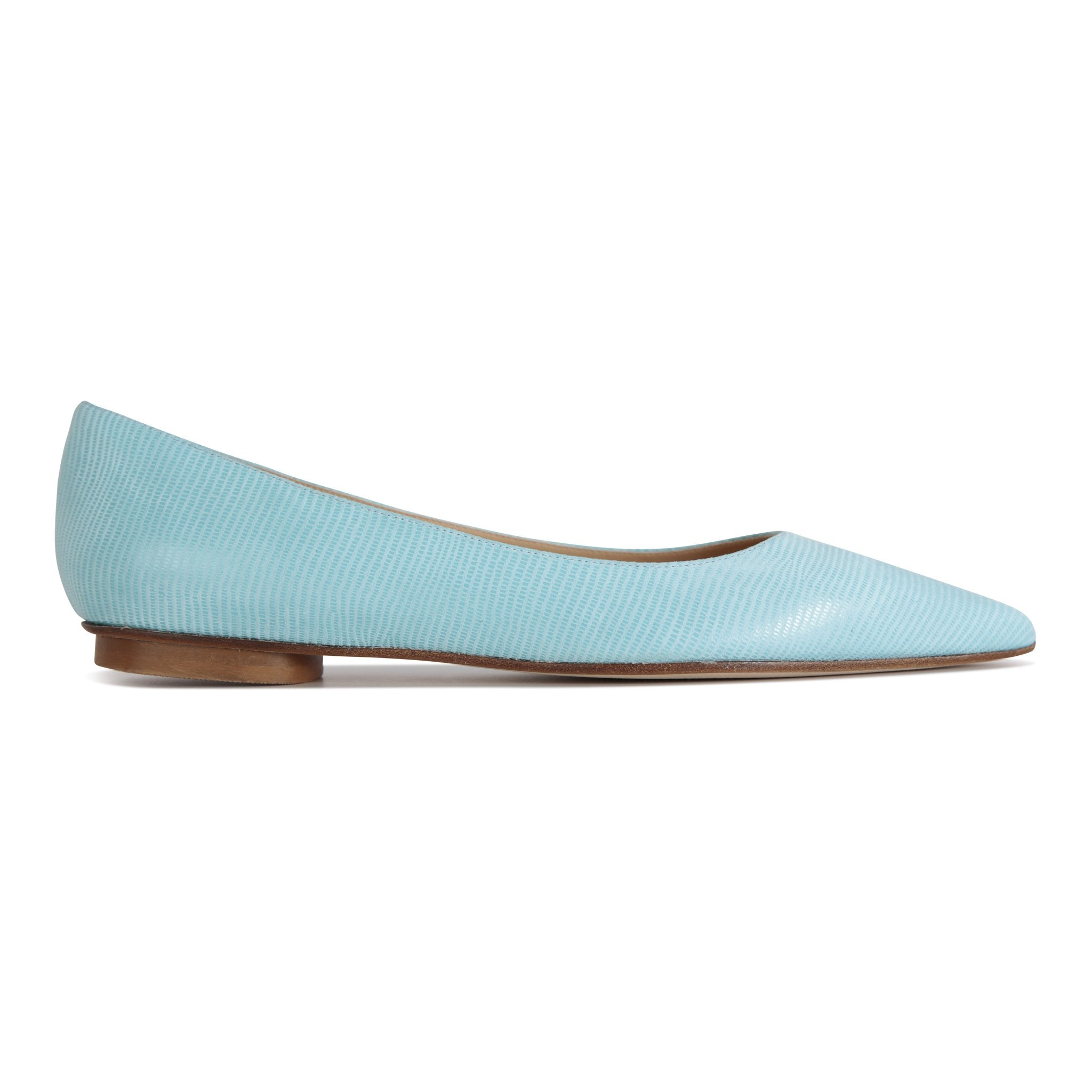 COMO - Varanus Sky Mint, VIAJIYU - Women's Hand Made Sustainable Luxury Shoes. Made in Italy. Made to Order.