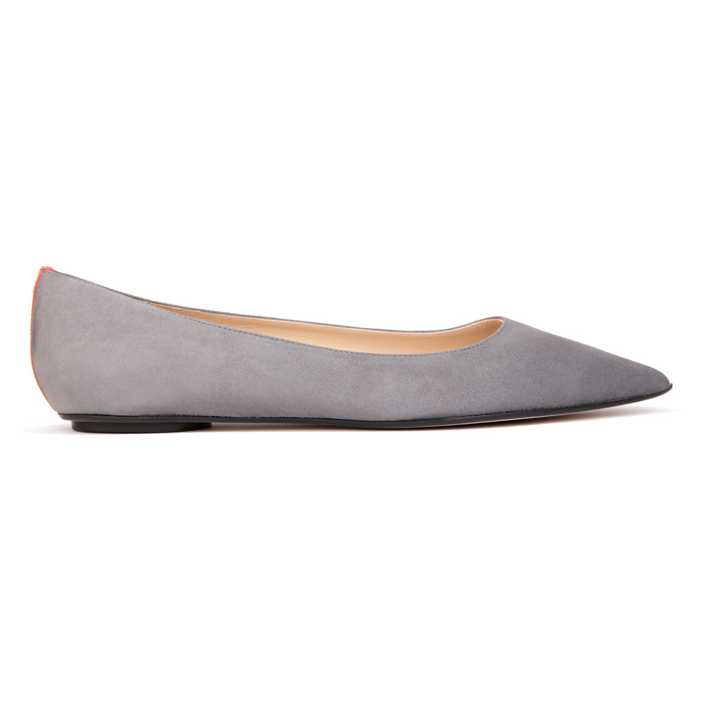 COMO - Velukid Anthracite + Patent Arancio, VIAJIYU - Women's Hand Made Sustainable Luxury Shoes. Made in Italy. Made to Order.