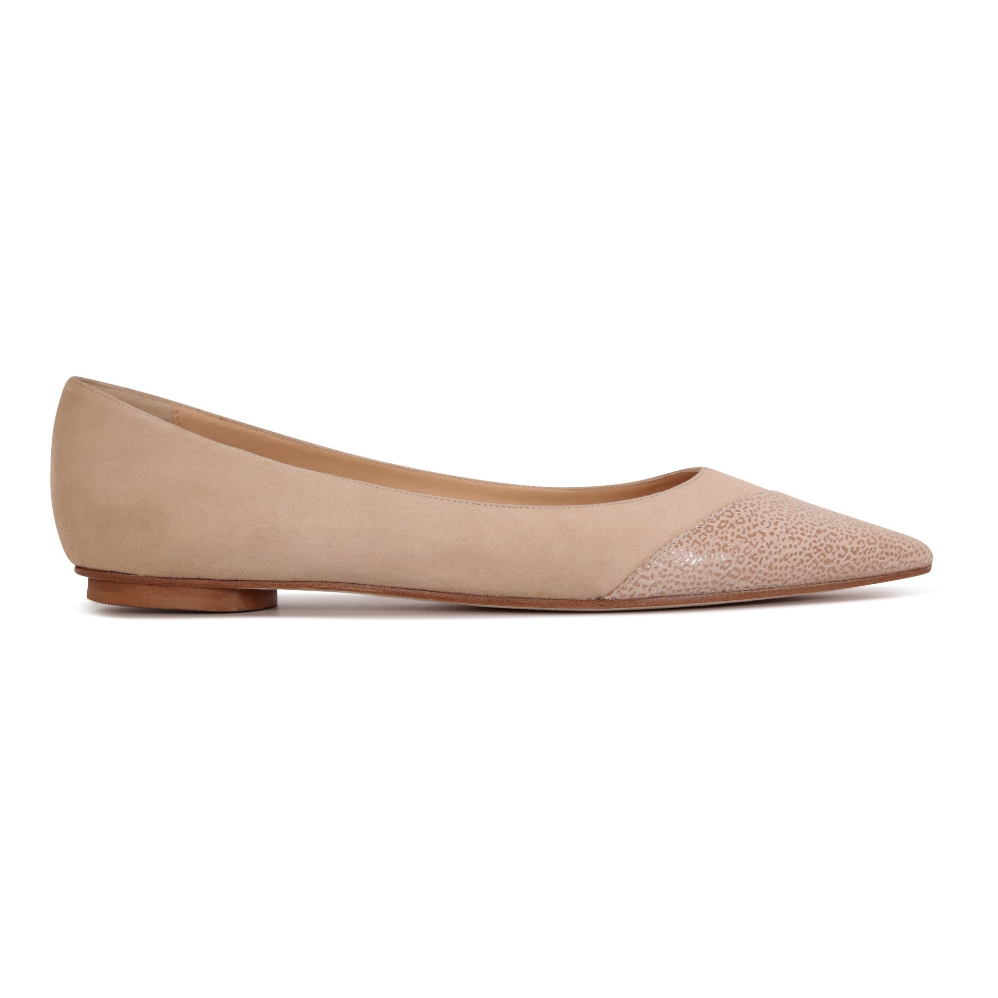 COMO - Velukid Tan + Asymmetrical Toe Savannah, VIAJIYU - Women's Hand Made Sustainable Luxury Shoes. Made in Italy. Made to Order.