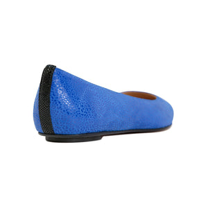 COMO - Savannah Cobalt + Karung Nero, VIAJIYU - Women's Hand Made Sustainable Luxury Shoes. Made in Italy. Made to Order.