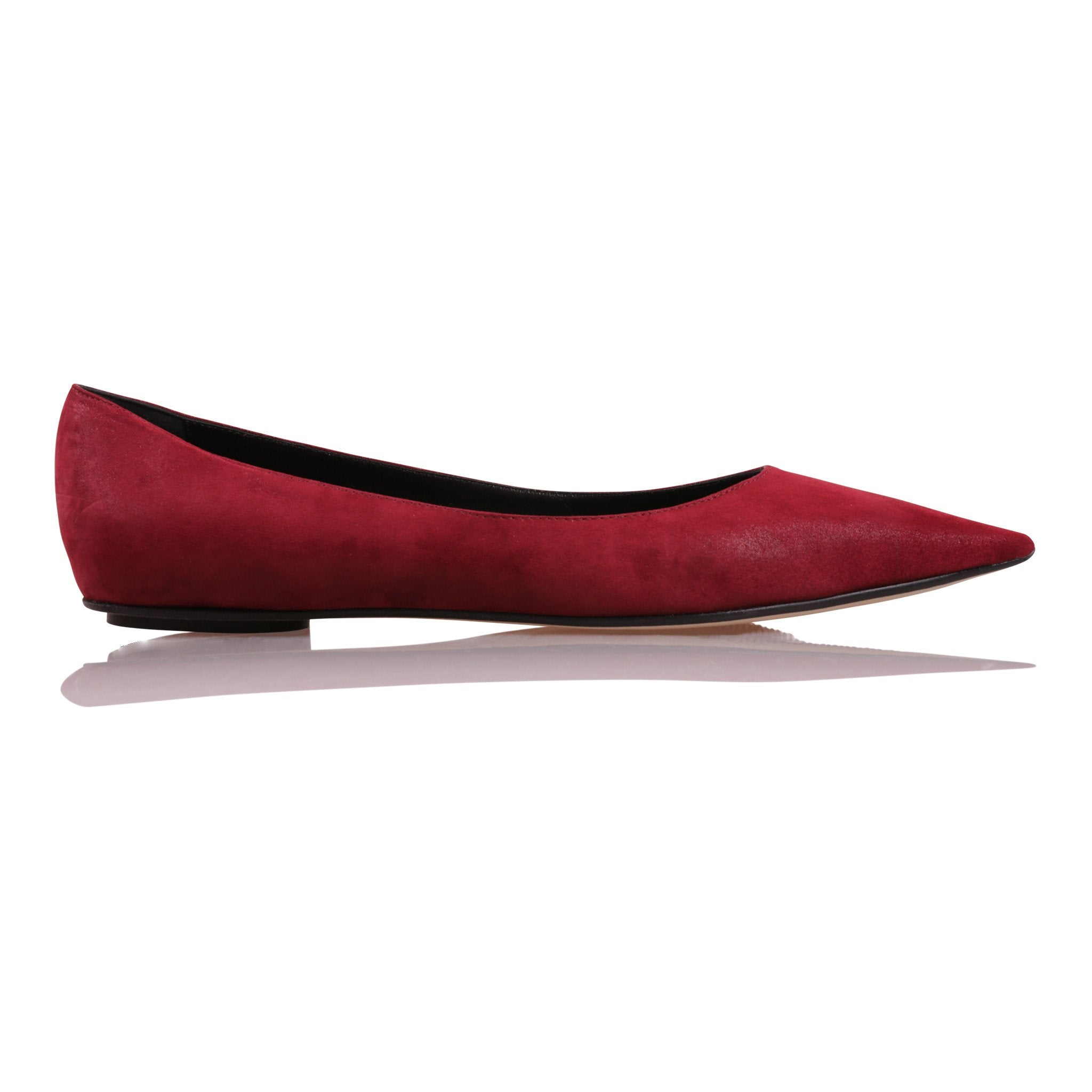 COMO - Hydra Bordeaux + Nero Insole, VIAJIYU - Women's Hand Made Sustainable Luxury Shoes. Made in Italy. Made to Order.