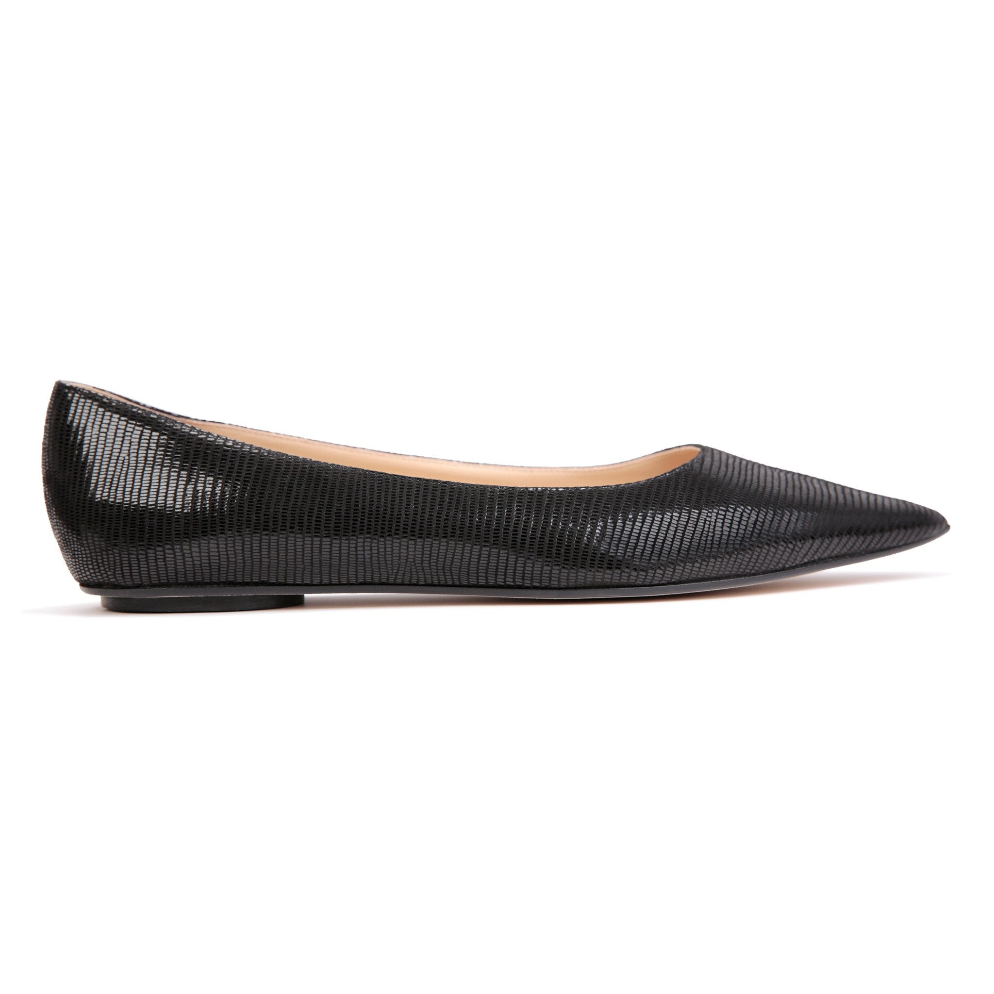 COMO - Varanus Nero, VIAJIYU - Women's Hand Made Sustainable Luxury Shoes. Made in Italy. Made to Order.