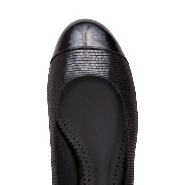 ROMA - Varanus + Patent Nero Toe + Back, VIAJIYU - Women's Hand Made Sustainable Luxury Shoes. Made in Italy. Made to Order.