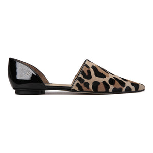 ELBA - Calf Hair Leopardo + Patent Nero, VIAJIYU - Women's Hand Made Sustainable Luxury Shoes. Made in Italy. Made to Order.