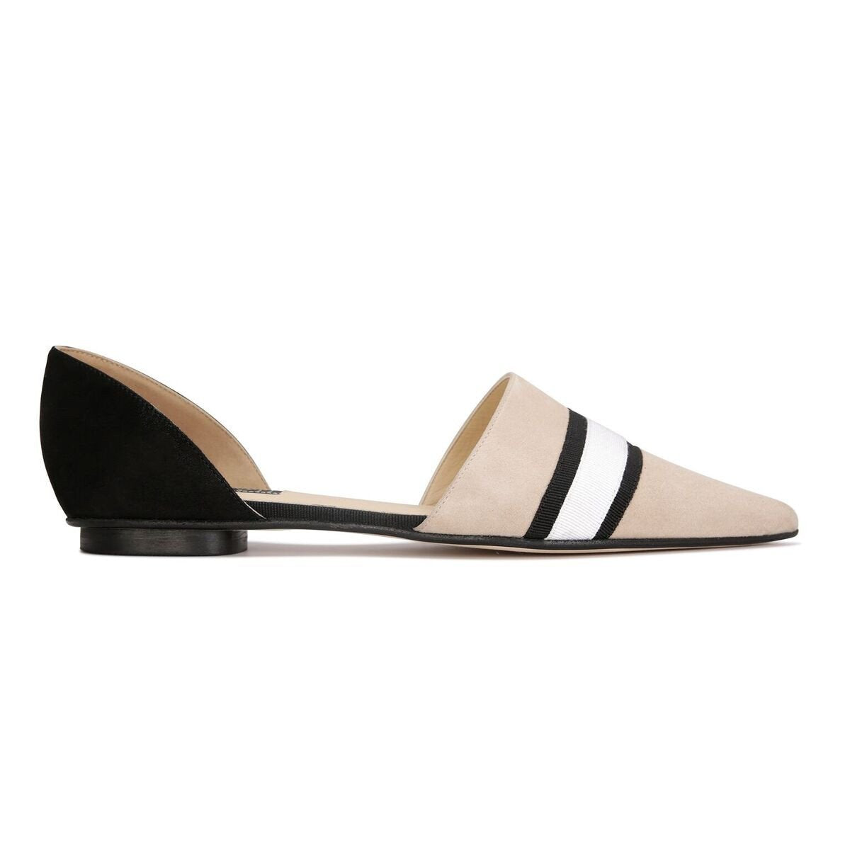 ELBA - Velukid Tan with Gros Stripes + Hydra Nero, VIAJIYU - Women's Hand Made Sustainable Luxury Shoes. Made in Italy. Made to Order.