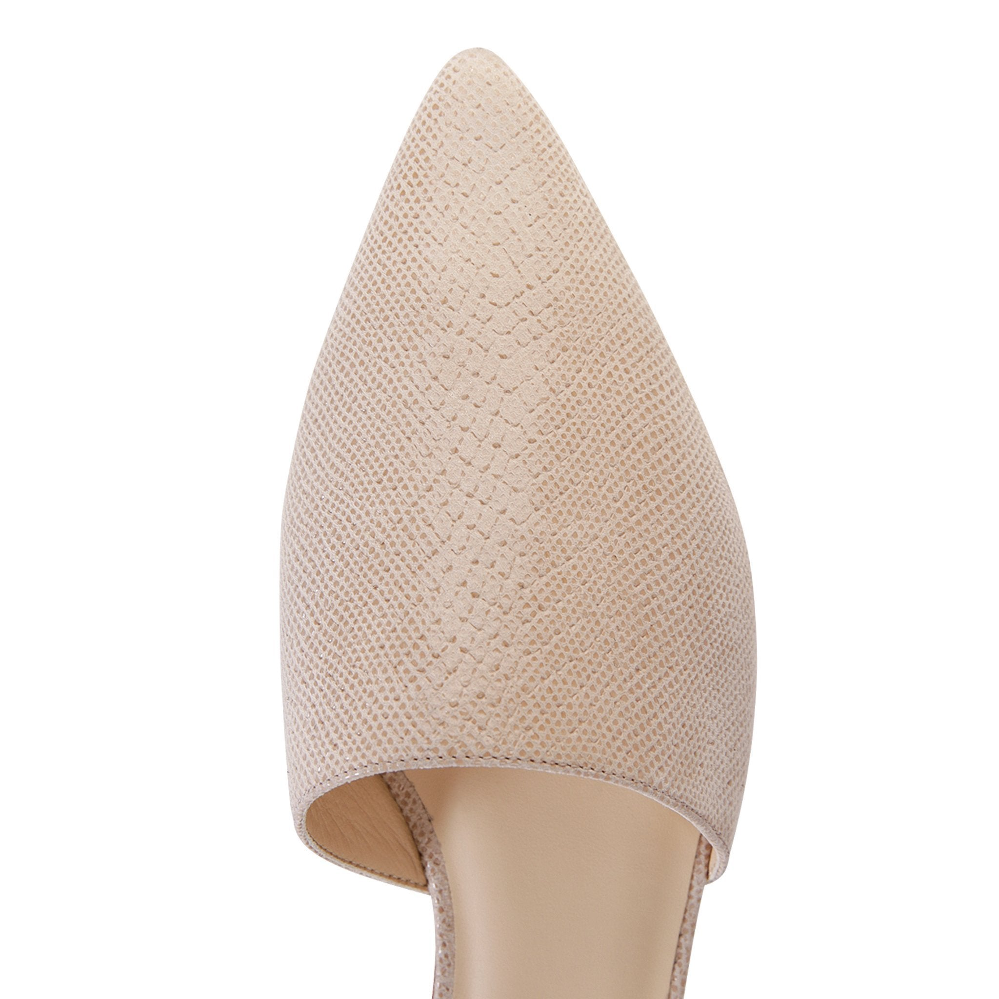 ELBA - Karung Tan, VIAJIYU - Women's Hand Made Sustainable Luxury Shoes. Made in Italy. Made to Order.