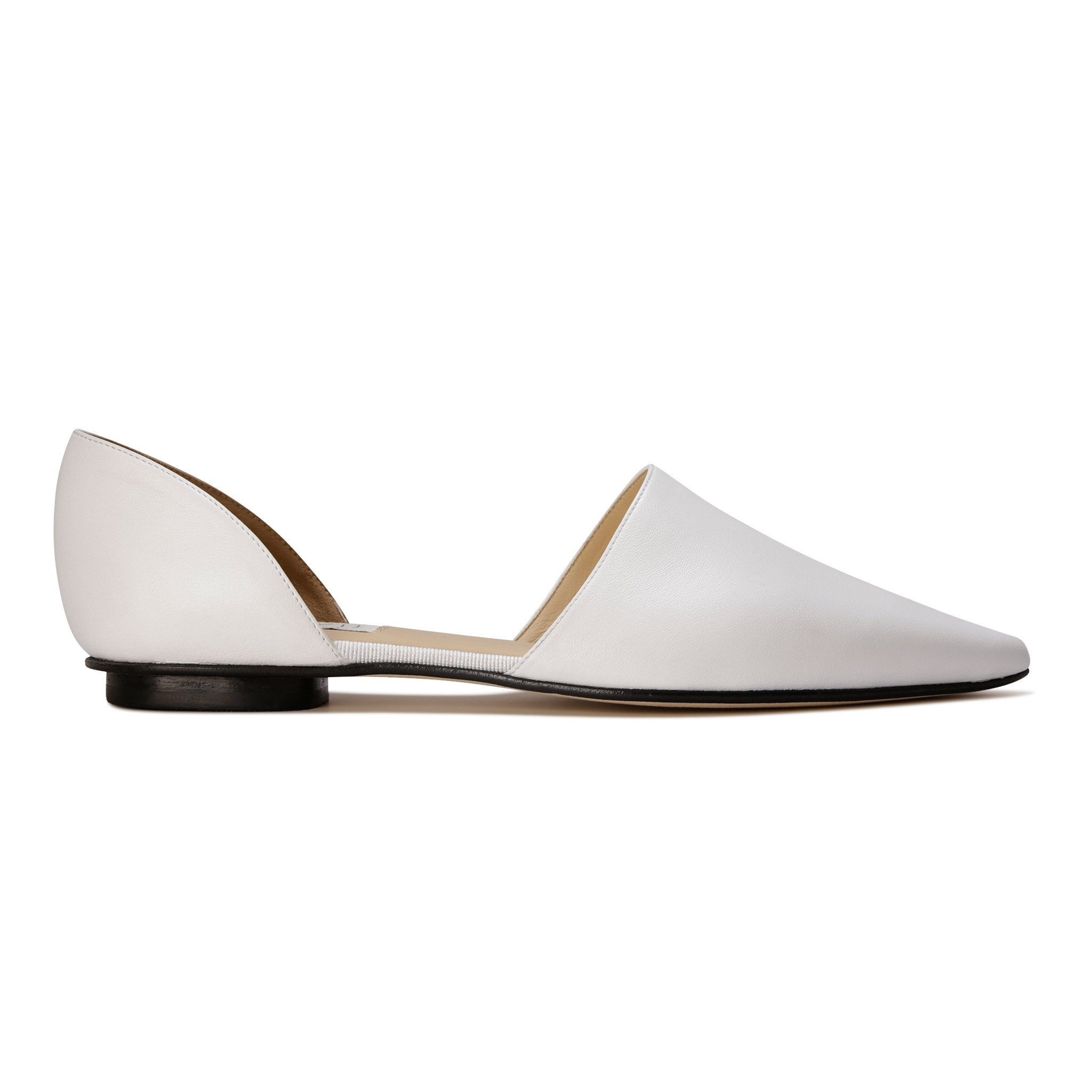 ELBA - Nappa Bianco, VIAJIYU - Women's Hand Made Sustainable Luxury Shoes. Made in Italy. Made to Order.