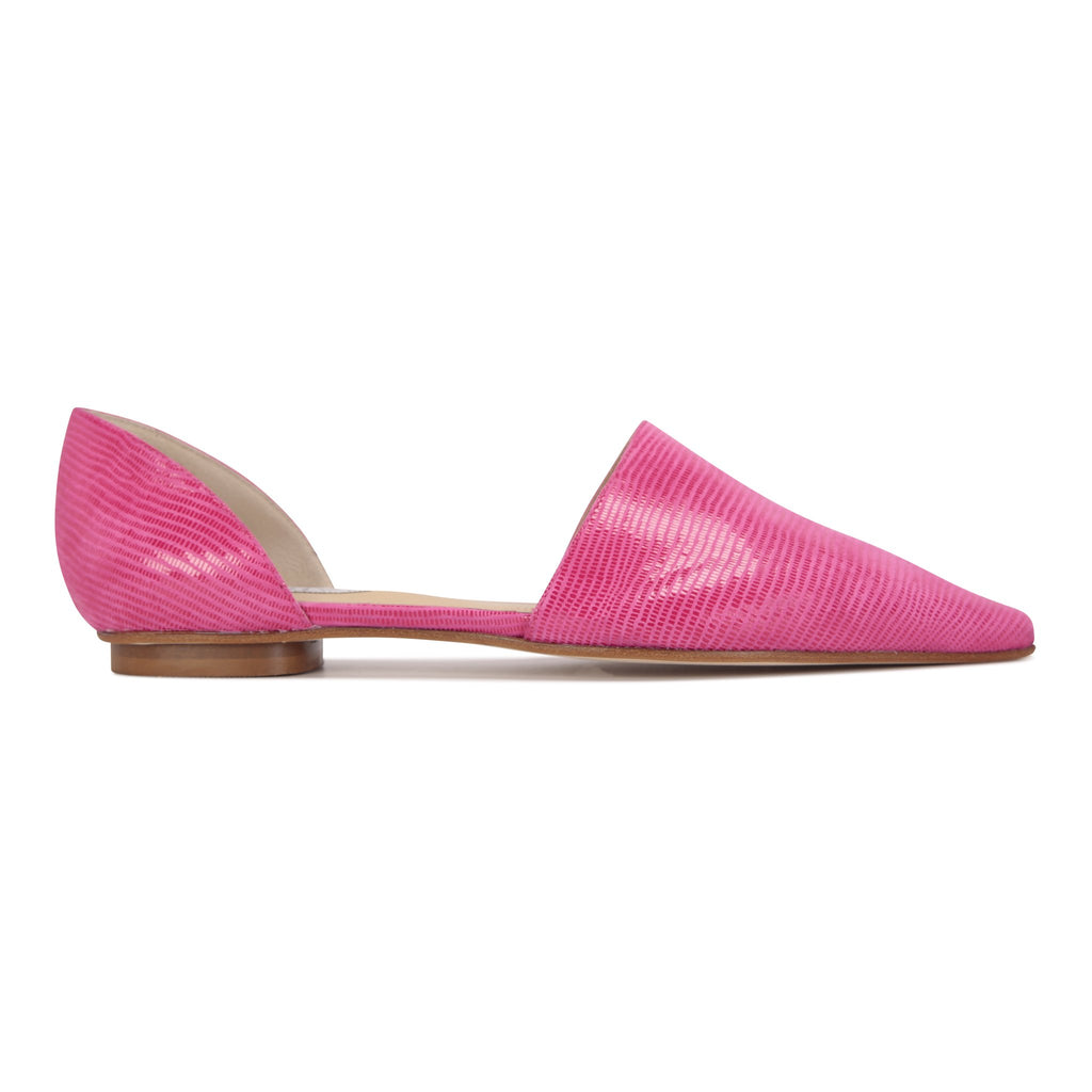 ELBA - Varanus Epiphany Pink, VIAJIYU - Women's Hand Made Sustainable Luxury Shoes. Made in Italy. Made to Order.