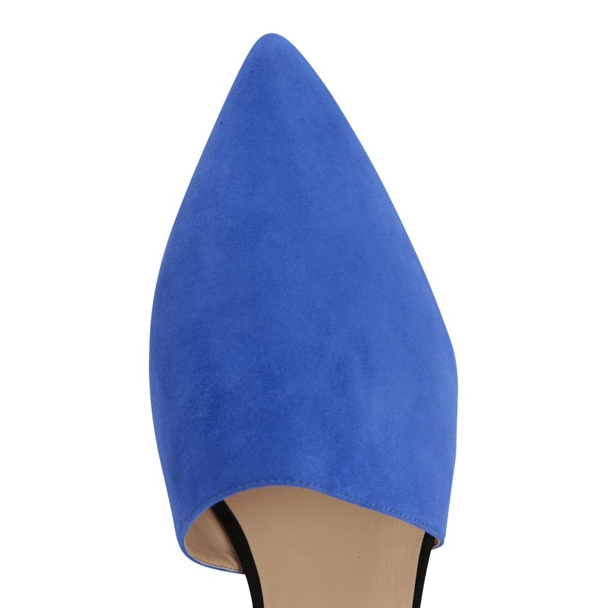 ELBA - Velukid Cobalt + Nero, VIAJIYU - Women's Hand Made Sustainable Luxury Shoes. Made in Italy. Made to Order.