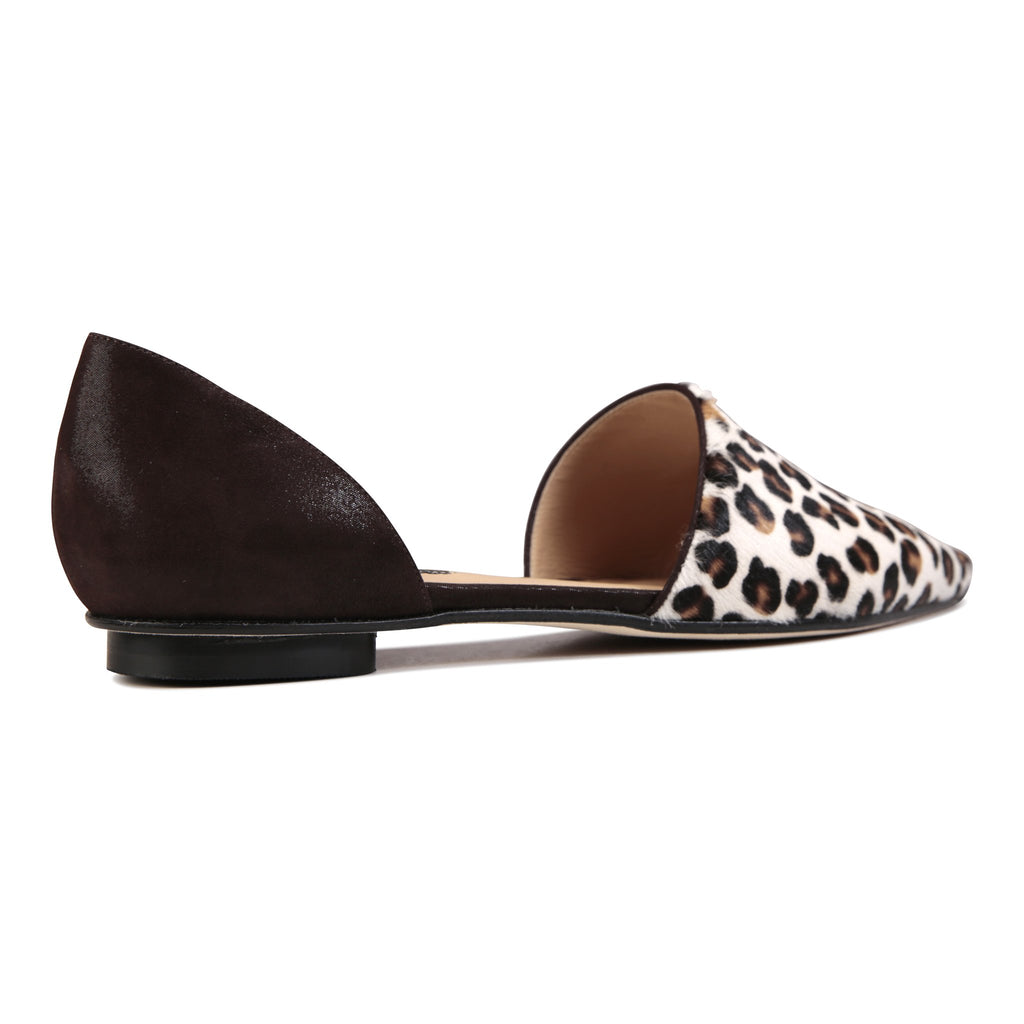 ELBA - Calf Hair Naby + Hydra Espresso, VIAJIYU - Women's Hand Made Sustainable Luxury Shoes. Made in Italy. Made to Order.
