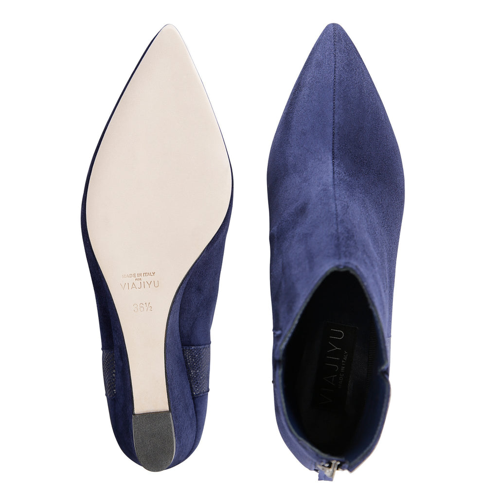 FORTE - Velukid + Karung Midnight, VIAJIYU - Women's Hand Made Sustainable Luxury Shoes. Made in Italy. Made to Order.