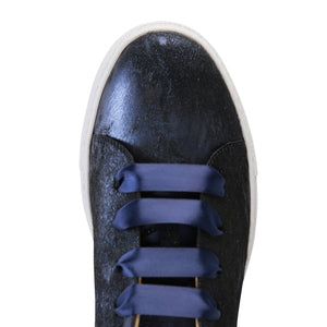 GROSSETO - Calf Hair Vintage Midnight, VIAJIYU - Women's Hand Made Sustainable Luxury Shoes. Made in Italy. Made to Order.