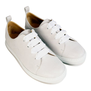 GROSSETO - Karung Bianco, VIAJIYU - Women's Hand Made Sustainable Luxury Shoes. Made in Italy. Made to Order.