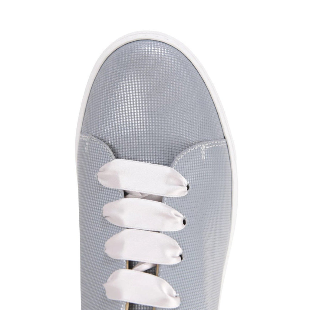 GROSSETO - Pixel Silver, VIAJIYU - Women's Hand Made Sustainable Luxury Shoes. Made in Italy. Made to Order.