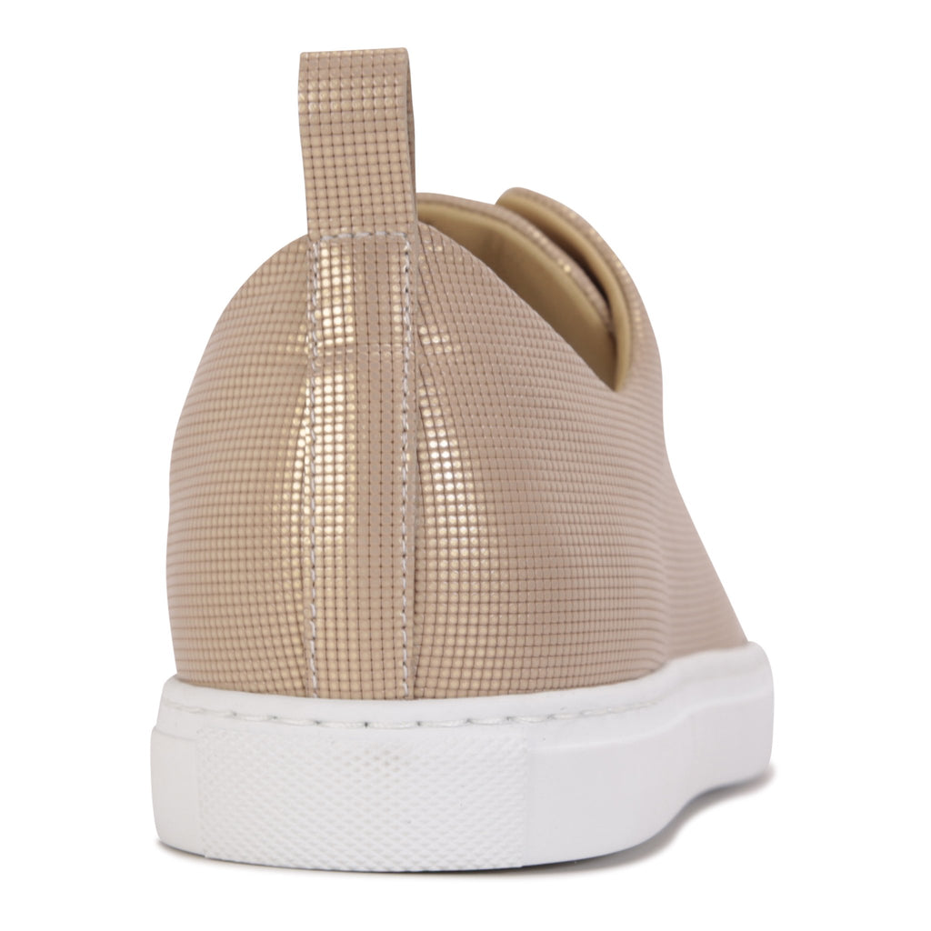 GROSSETO - Pixel Gold, VIAJIYU - Women's Hand Made Sustainable Luxury Shoes. Made in Italy. Made to Order.