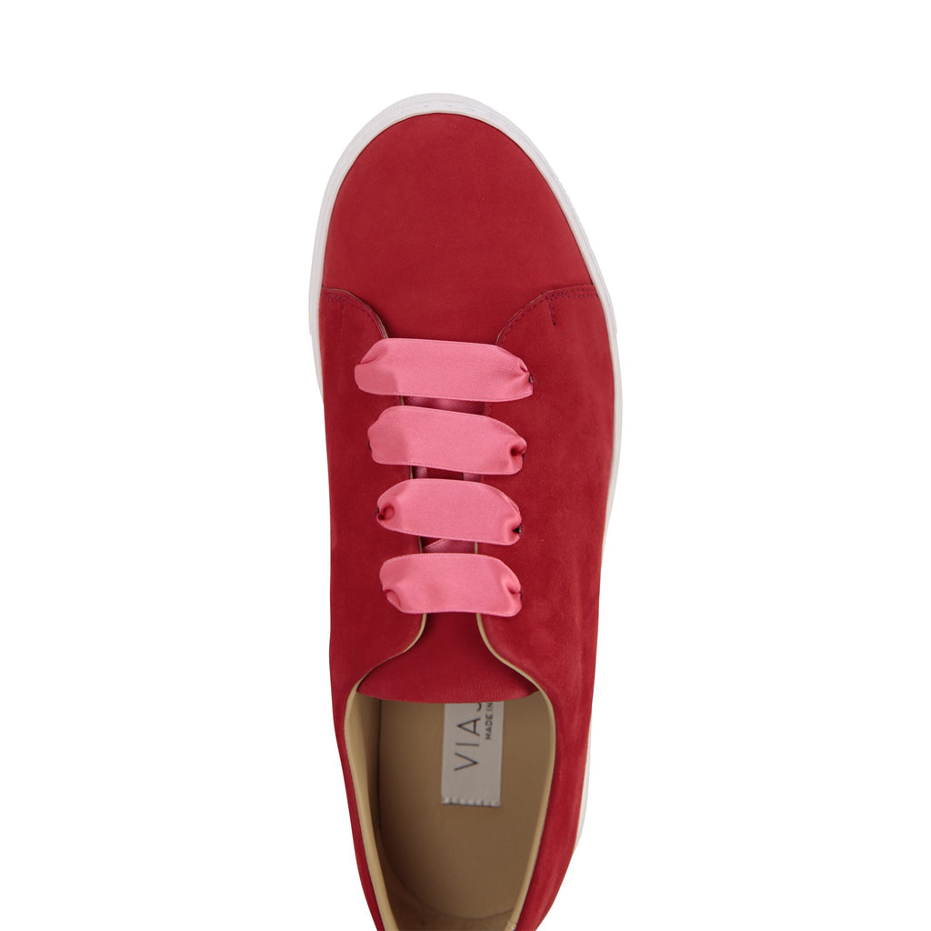 GROSSETO - Velukid Rosso, VIAJIYU - Women's Hand Made Sustainable Luxury Shoes. Made in Italy. Made to Order.
