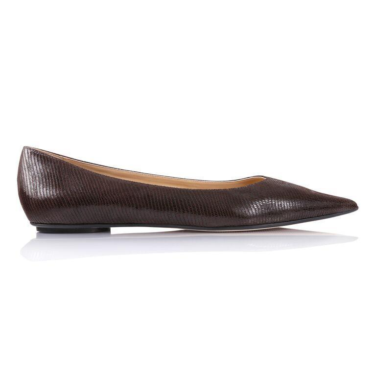 COMO - Varanus Espresso, VIAJIYU - Women's Hand Made Sustainable Luxury Shoes. Made in Italy. Made to Order.