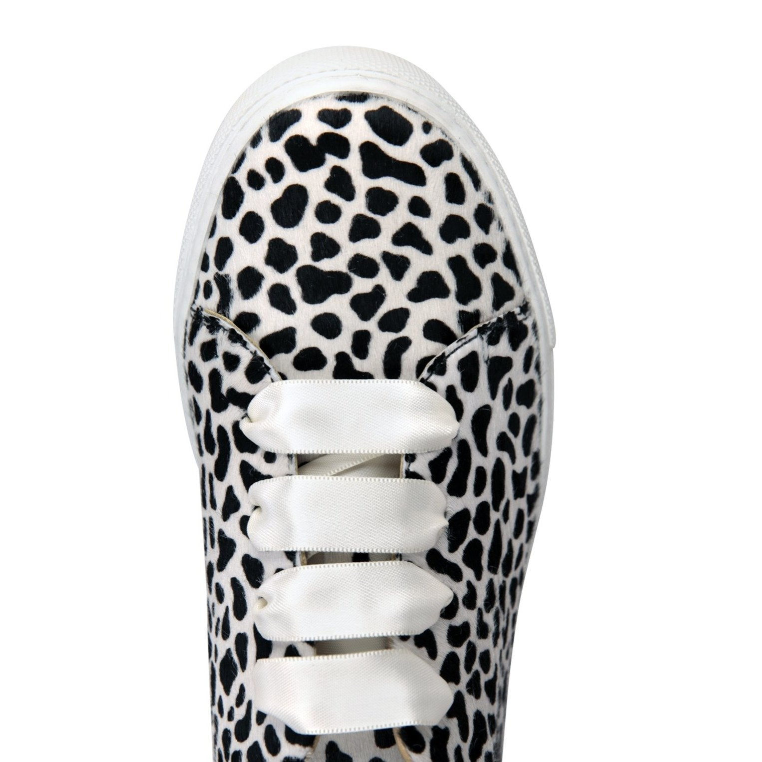 GROSSETO - Calf Hair Dalmation, VIAJIYU - Women's Hand Made Sustainable Luxury Shoes. Made in Italy. Made to Order.