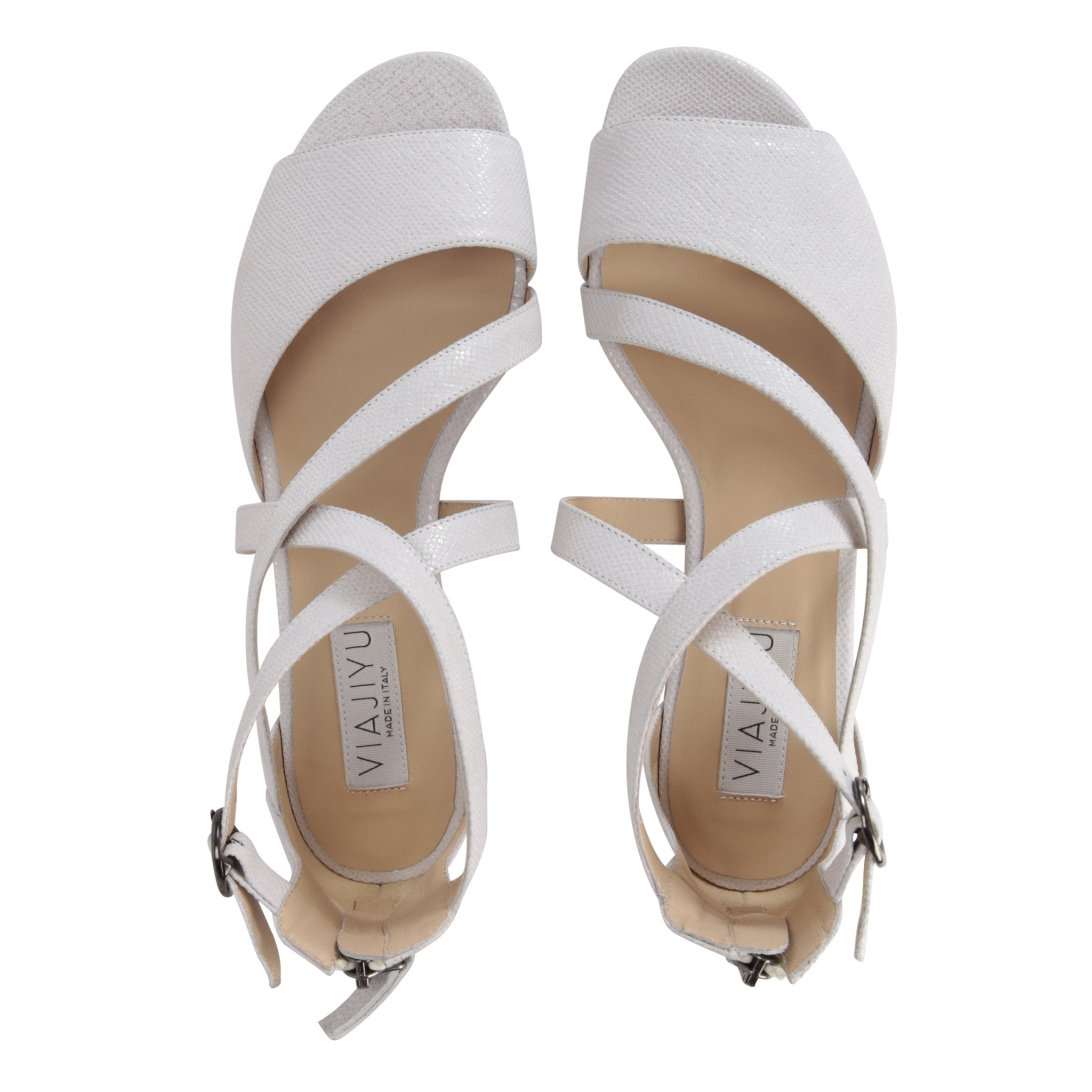 ISCHIA - Karung Bianco, VIAJIYU - Women's Hand Made Sustainable Luxury Shoes. Made in Italy. Made to Order.