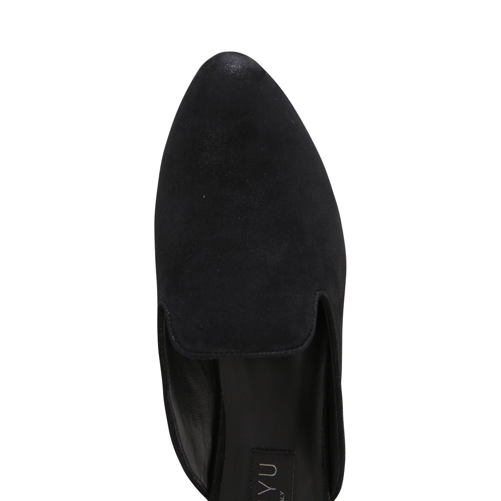 ISEO - Hydra Nero, VIAJIYU - Women's Hand Made Sustainable Luxury Shoes. Made in Italy. Made to Order.