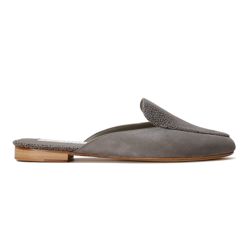 ISEO - Hydra + Savannah Anthracite, VIAJIYU - Women's Hand Made Sustainable Luxury Shoes. Made in Italy. Made to Order.