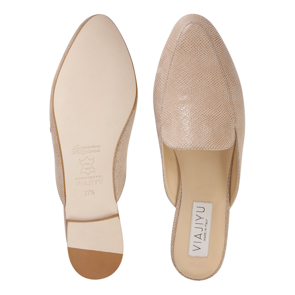 ISEO - Karung Tan, VIAJIYU - Women's Hand Made Sustainable Luxury Shoes. Made in Italy. Made to Order.