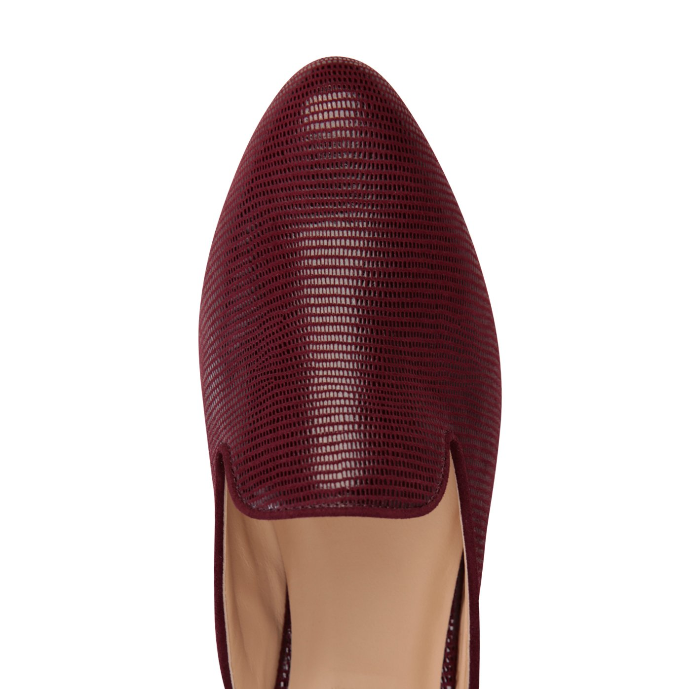 ISEO - Varanus Garnet, VIAJIYU - Women's Hand Made Sustainable Luxury Shoes. Made in Italy. Made to Order.
