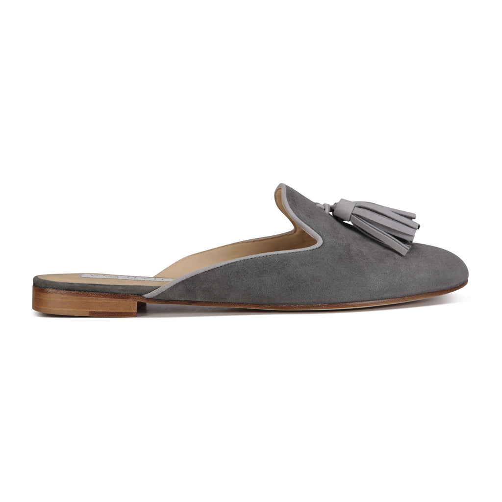 ISEO - Velukid Anthracite + Grigio, VIAJIYU - Women's Hand Made Sustainable Luxury Shoes. Made in Italy. Made to Order.