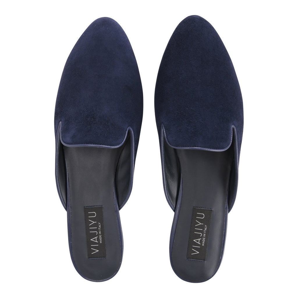 ISEO - Velukid Midnight, VIAJIYU - Women's Hand Made Sustainable Luxury Shoes. Made in Italy. Made to Order.