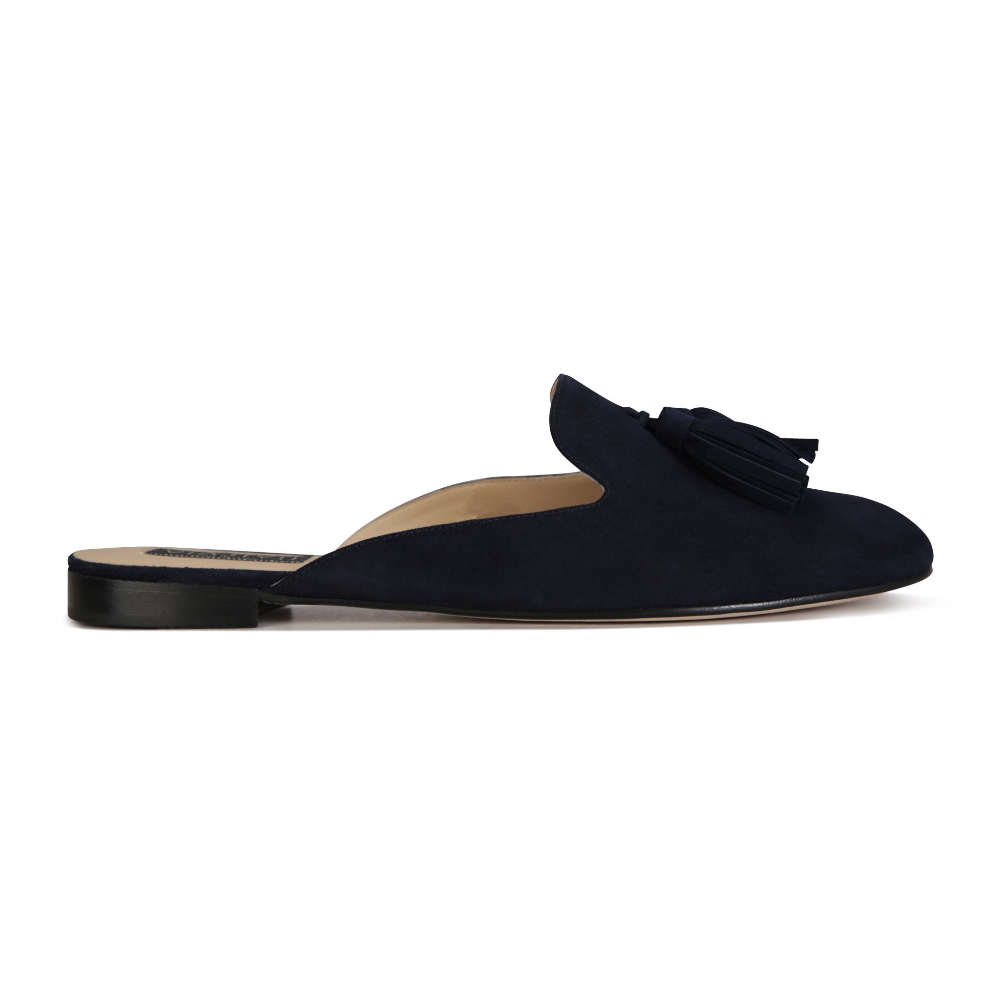 ISEO - Velukid Midnight + Tassel, VIAJIYU - Women's Hand Made Sustainable Luxury Shoes. Made in Italy. Made to Order.