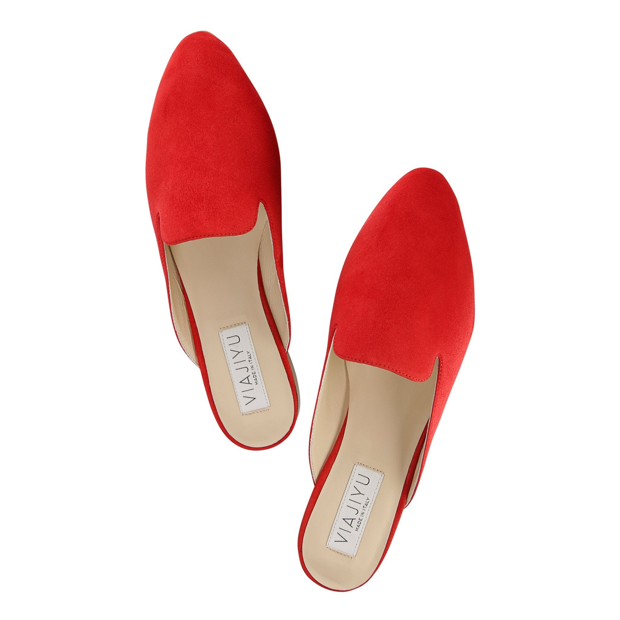 ISEO - Velukid Rosso, VIAJIYU - Women's Hand Made Sustainable Luxury Shoes. Made in Italy. Made to Order.