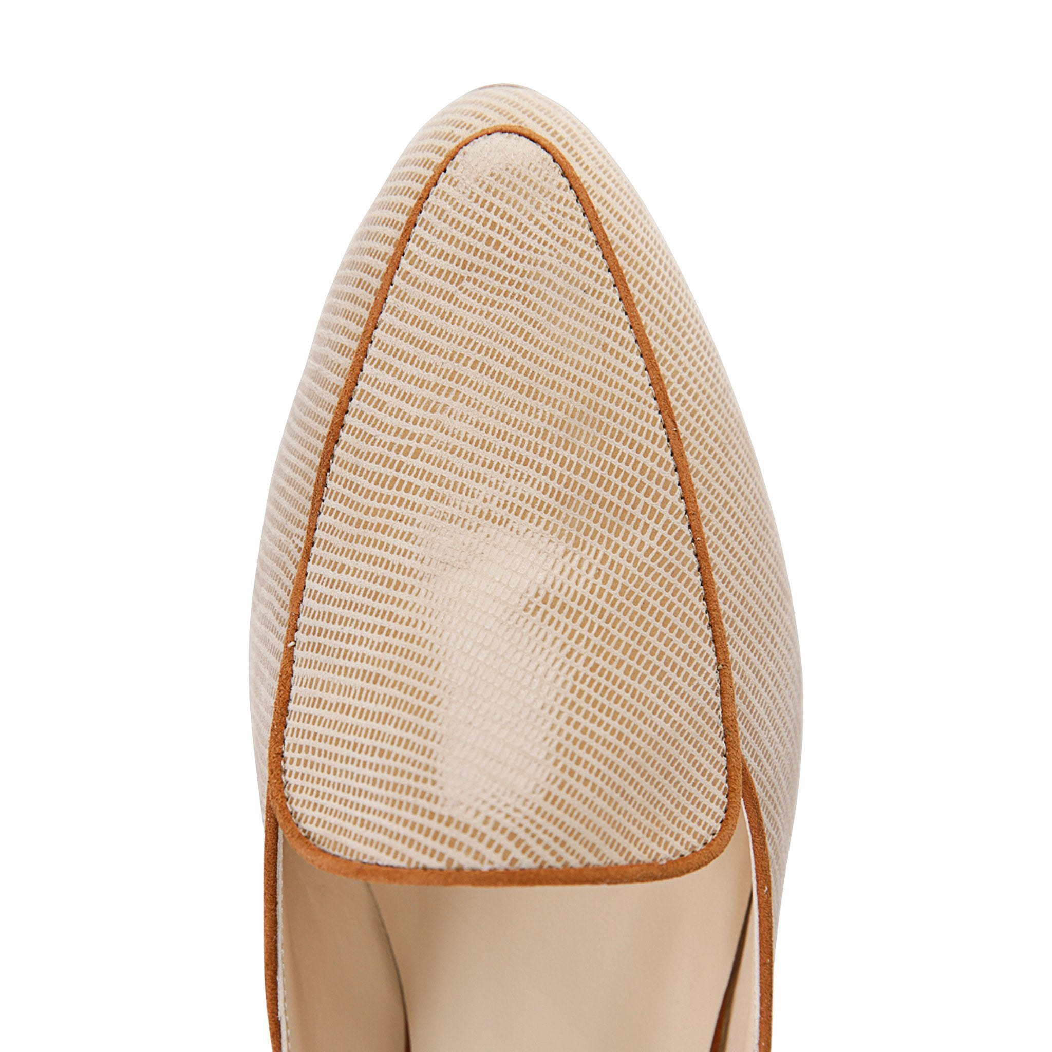 ISEO - Varanus Tan + Velukid Dune, VIAJIYU - Women's Hand Made Sustainable Luxury Shoes. Made in Italy. Made to Order.