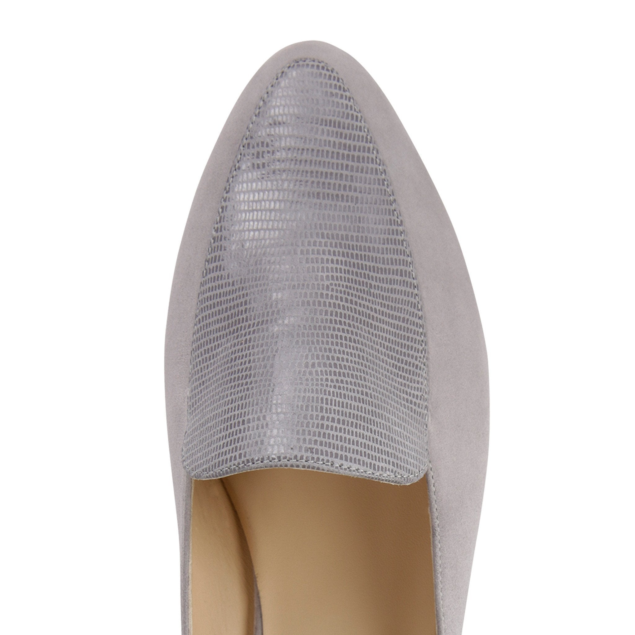 ISEO - Velukid + Varanus Grigio, VIAJIYU - Women's Hand Made Sustainable Luxury Shoes. Made in Italy. Made to Order.