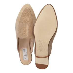 ISEO - Velukid + Karung Tan, VIAJIYU - Women's Hand Made Sustainable Luxury Shoes. Made in Italy. Made to Order.