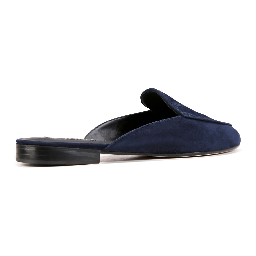 ISEO - Velukid + Calf Hair Midnight, VIAJIYU - Women's Hand Made Sustainable Luxury Shoes. Made in Italy. Made to Order.