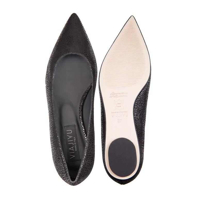 COMO - Savannah Nero, VIAJIYU - Women's Hand Made Sustainable Luxury Shoes. Made in Italy. Made to Order.
