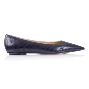 COMO - Varanus Midnight, VIAJIYU - Women's Hand Made Sustainable Luxury Shoes. Made in Italy. Made to Order.