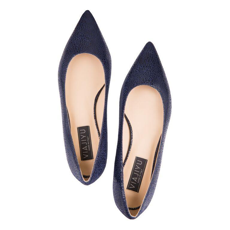 COMO - Savannah Midnight, VIAJIYU - Women's Hand Made Sustainable Luxury Shoes. Made in Italy. Made to Order.