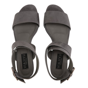 LUCCA - Hydra Anthracite, VIAJIYU - Women's Hand Made Sustainable Luxury Shoes. Made in Italy. Made to Order.